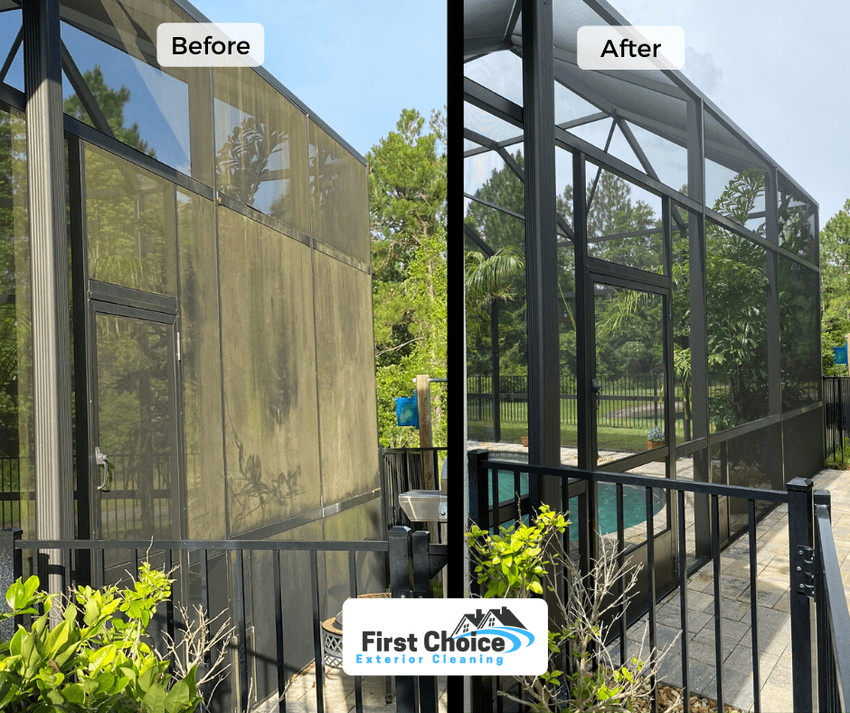 pool screen enclosure cleaning jacksonville fl